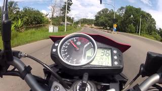 Go Pro - SYM T2 250cc bike test and 0 - 100kmh