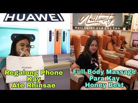 Regalong Phone kay Ate Rhinsae at Regalong Massage para kay Honey Best