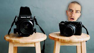 Medium Format Film vs Digital Comparison
