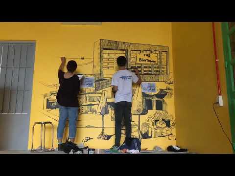 Vẽ tường quán Dipu Tây ninh