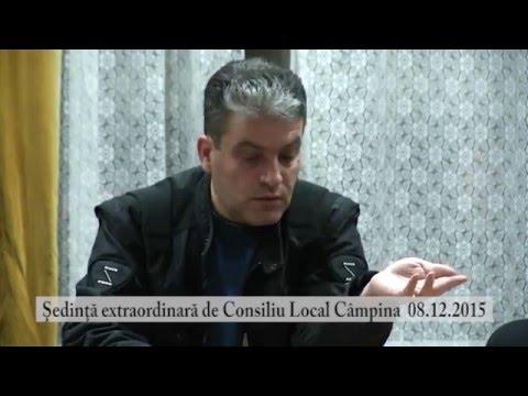 Sedinta extraordinara Consiliul Local Campina din 8 dec. 2015 – partea a II-a