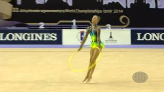 preview picture of video 'STANIOUTA Melitina (BLR) - 2014 Rhythmic Worlds, Izmir (TUR) - Qualifications Hoop'