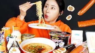 MUKBANG ASMR   Amazing! Convenience Store Food🍱Eat Ramen Gimbap Korean Eatingshow 아라 Ara Realsound