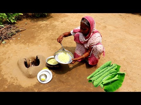 Traditional KACHU Pata Bata & Garam Vat Recipe by Grandmother | Rice & Arum Leaf Paste Lunch Recipe