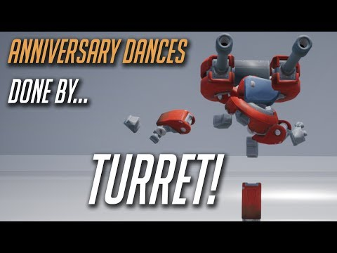 Overwatch Anniversary dances performed by… Torbjörn's Turret!
