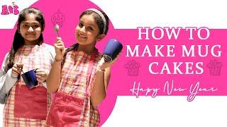 How To Make A Mug Cake | New Year's 2020 Special Video | #HappyNewYear | Aadya & Sitara