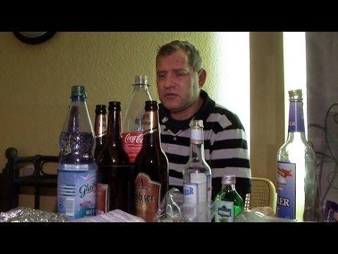 Die Flecke beim Alkoholismus