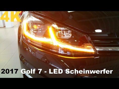 2017 VW Golf 7 Facelift - LED-Scheinwerfer - dynamischer Blinker - ALS [4K]