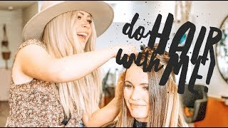 DO HAIR WITH ME! WORK DAY VLOG