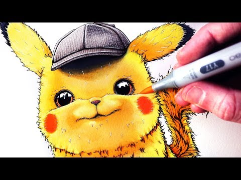 Let's Draw DETECTIVE PIKACHU - POKÉMON FAN ART