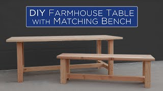DIY Farmhouse Table With Matching Bench | 59