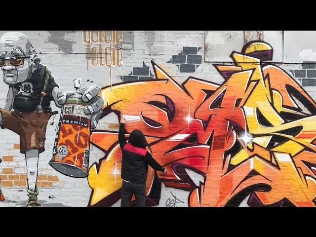 2 new works by graffiti artist BACON