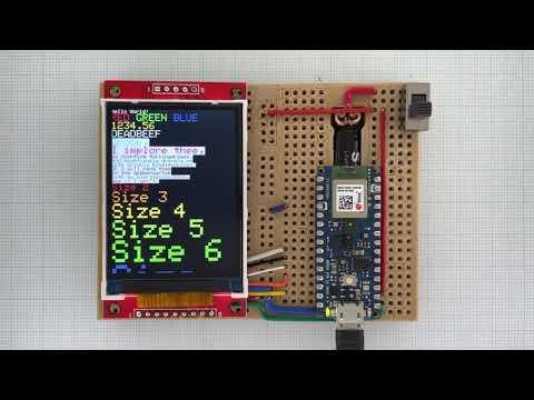 Arduino_GFX Arduino Nano 33 BLE ILI9341