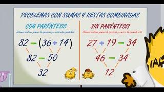 Resultado de imagen de EL PARENTESIS EN SUMAS Y RESTAS