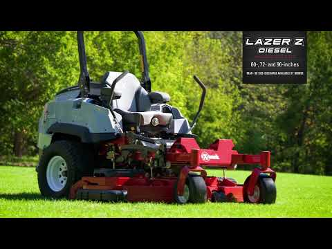 2018 Exmark Lazer Z Diesel Zero-Turn Red Tech Yanmar 72 in. 3TNV80FT in Conway, Arkansas - Video 1