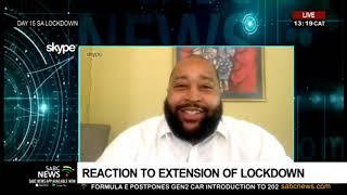 SABC News   Market Sense   Lockdown extension