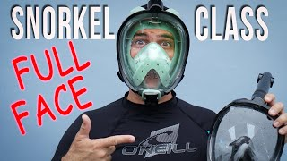 Learn to use Full Face Snorkel Mask safely
