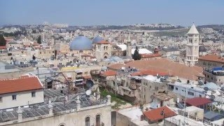 preview picture of video 'A view of the Old City of Jerusalem & the Mount of Olives from the Tower of David, Jerusalem Israel'