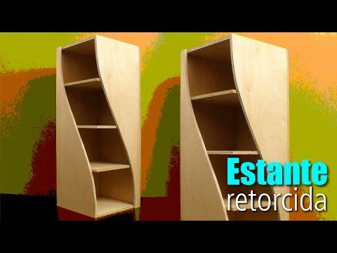 Estante de canto retorcida #DIY • Oficina de Casa