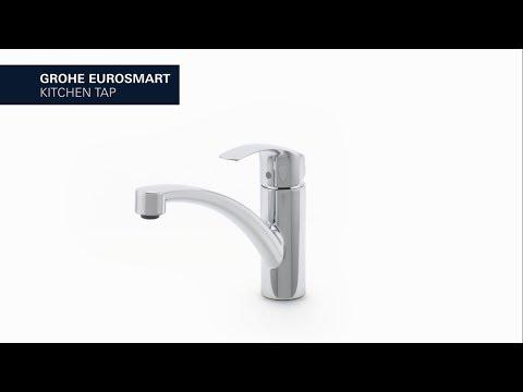 Grohe Eurosmart keukenkraan - lage uitloop - chroom