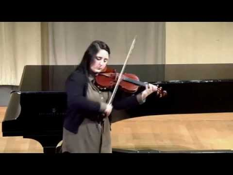 Performing JS Bach's Sonata No. 1 for Unaccompanied Violin, I. Adagio