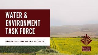 Water & Environment Task Force: Underground Water Storage