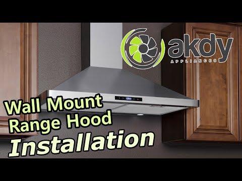 AKDY Wall-mount Range Hood Installation