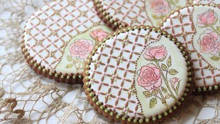 How to Stamp and Stencil a Cookie (aka Rose Lattice Cookie)