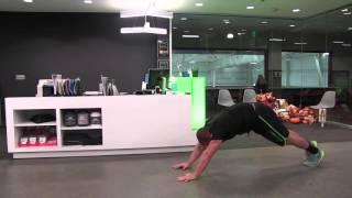 【体幹部強化&ハムストリングス柔軟性向上】補強におすすめ!「リバース・ワームウォーク」