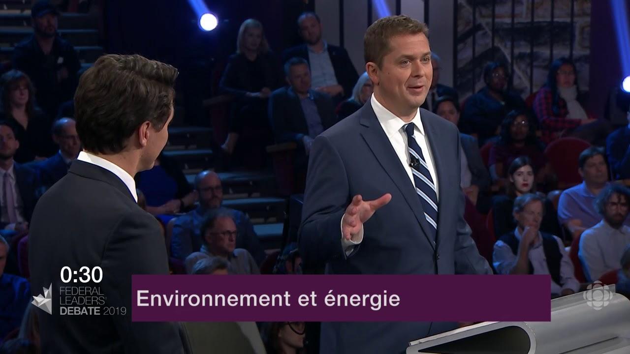 Justin Trudeau et Andrew Scheer débattent sur les oléoducs et le changement climatique