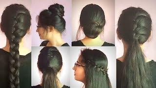 7 Different Hairstyle For 1 Week   For Medium To  Long Hair  Preksha Jain