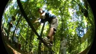 preview picture of video 'Slackline Jump Session @ Abenteuerpark Kandel 2009'