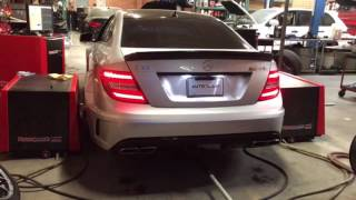 Mercedes W204 C63 AMG Black Series Dyno Run