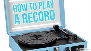 How to play a record!