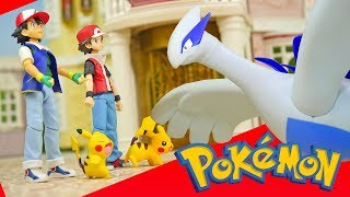 Pokemon Ash and Red vs Lugia - Re-Ment Miniature Toys