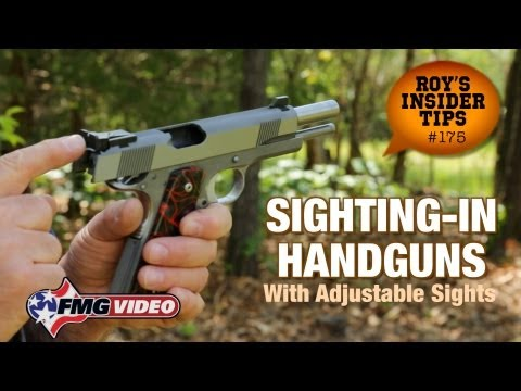 Sighting-In Handguns With Adjustable Sights