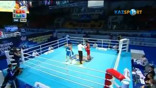 Чемпионат мира по боксу 2013  О Малабеков KGZ   К Ералиев KAZ 1