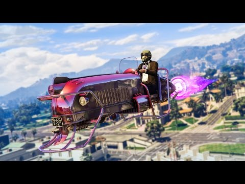 EPIC HOVERBIKE MOD!  - (GTA 5 Mods Funny Moments)
