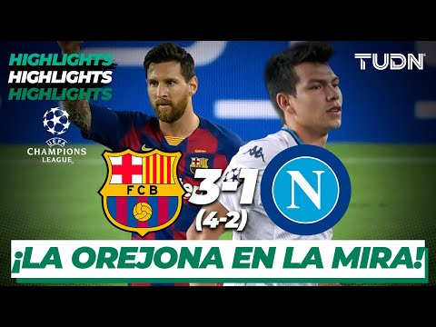 Highlights | Barcelona 3(4)-(2)1 Nápoli | Champions League 2020 – 8vos final | TUDN