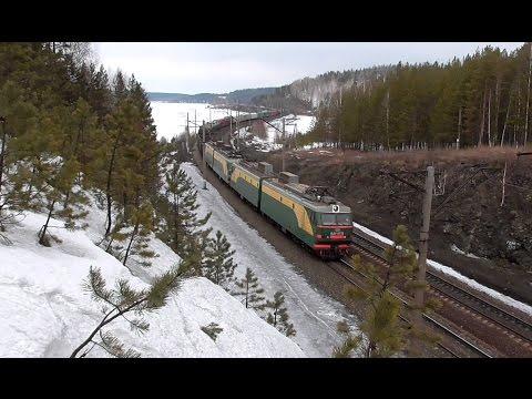 Система электровозов ВЛ11К-187/219 с грузовым поездом