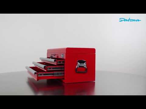 Werkzeugkiste mit 3 Schubladen und Ablagefach - Rot