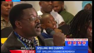 Top spellers crowned in Mombasa, Spelling Bee Champs