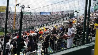 2014夏の甲子園 九州国際大附の応援 アナ雪ほかメドレー