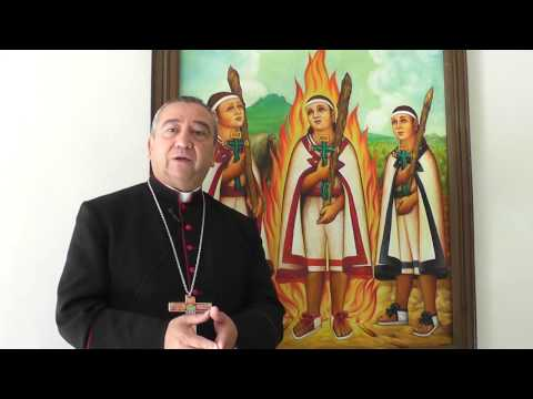 Interpretación pictórica de los Niños Mártires Tlaxcaltecas