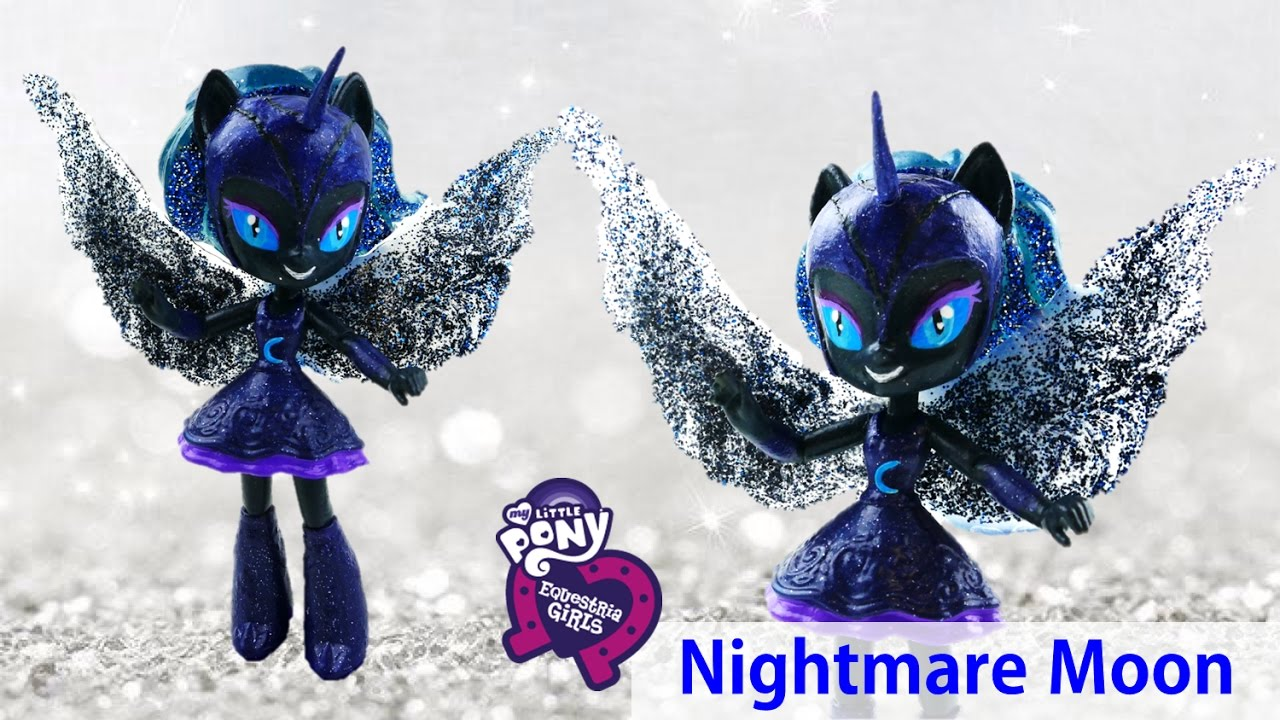 DIY My Little Pony Nightmare Moon Princess Luna Doll Transformation Equestria Girls | Evies Toy House