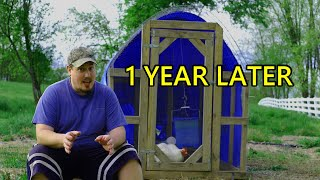 The Best Chicken Tractor On YouTube (1 Year LATER)