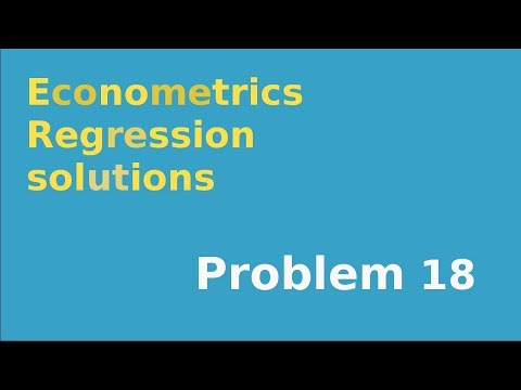 #18 Computing R-squared in simple linear regression when only RSS is given (no TSS, ESS)