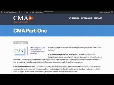 CMA Exam Part 1 - Cost and Variance Measures - YouTube