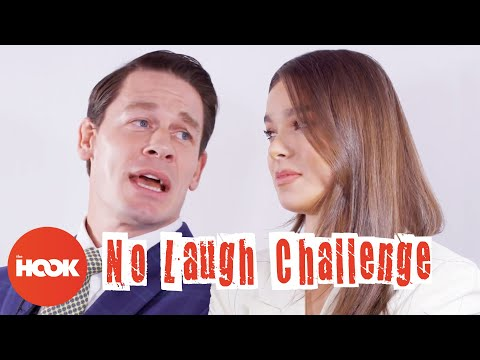 John Cena and Hailee Steinfeld Play The No Laugh Challenge   The Hook