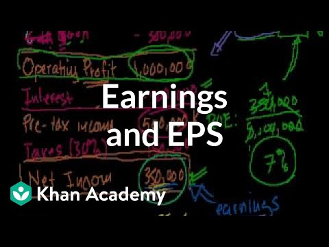 Earnings and EPS (video) | Stocks and bonds | Khan Academy